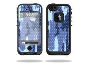 Mightyskins Protective Vinyl Skin Decal Cover for LifeProof iPhone 5 Case 1301 fre wrap sticker skins Blue Camo