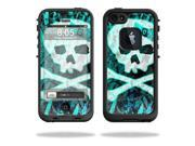 Mightyskins Protective Vinyl Skin Decal Cover for LifeProof iPhone 5 Case 1301 fre wrap sticker skins Zebra Skull