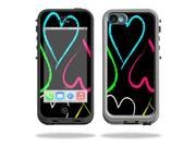 MightySkins Protective Vinyl Skin Decal Cover for LifeProof iPhone 5C Case fre Case Sticker Skins Hearts