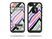 Mightyskins Protective Vinyl Skin Decal Cover for LifeProof iPhone 5 Case 1301 fre wrap sticker skins Colorful Chevron