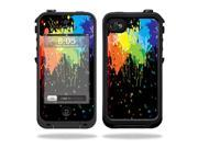 Mightyskins Protective Vinyl Skin Decal Cover for LifeProof iPhone 4 / 4S Case wrap sticker skins Splatter