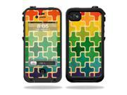 Mightyskins Protective Vinyl Skin Decal Cover for LifeProof iPhone 4 / 4S Case wrap sticker skins Puzzle