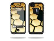 Mightyskins Protective Vinyl Skin Decal Cover for LifeProof iPhone 5 Case 1301 fre wrap sticker skins Honeycomb