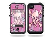 MightySkins Protective Vinyl Skin Decal Cover for LifeProof iPhone 4 / 4S Case Sticker Skins Pink Bow Skull
