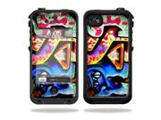 Mightyskins Protective Vinyl Skin Decal Cover for LifeProof iPhone 4 / 4S Case wrap sticker skins Loud Graffiti