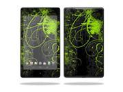 """MightySkins Protective Skin Decal Cover for Asus Google Nexus 7"""" (2013 - 2nd Generation) Sticker Skins Green Distortion"""