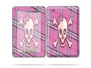 """MightySkins Protective Skin Decal Cover for Lenovo IdeaPad A1 7"""" inch Tablet Sticker Skins Pink Bow Skull"""