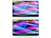 """Mightyskins Protective Vinyl Skin Decal Cover for Samsung Series 7 Slate 11.6"""" Inch Tablet wrap sticker skins Light waves"""