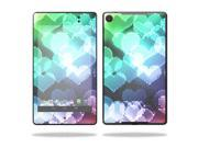 "Mightyskins Protective Skin Decal Cover for Asus Google Nexus 7"" (2013 - 2nd Generation) wrap sticker skins Colorful Hearts"