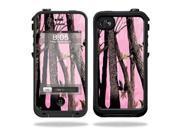Mightyskins Protective Vinyl Skin Decal Cover for LifeProof iPhone 4 / 4S Case wrap sticker skins Pink Tree Camo