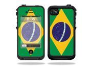Mightyskins Protective Vinyl Skin Decal Cover for LifeProof iPhone 4 / 4S Case wrap sticker skins Brazilian Flag