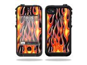 Mightyskins Protective Vinyl Skin Decal Cover for LifeProof iPhone 4 / 4S Case wrap sticker skins Hot Flames