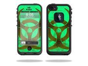 Mightyskins Protective Vinyl Skin Decal Cover for LifeProof iPhone 5 / 5S Case fre Case wrap sticker skins Biohazard