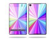 """Mightyskins Protective Skin Decal Cover for Asus Google Nexus 7"""" (2013 - 2nd Generation) wrap sticker skins Rainbow Zoom"""