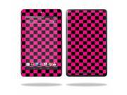 "Mightyskins Protective Skin Decal Cover for Asus Google Nexus 7 Tablet with 7"" screen wrap sticker skins Pink Check"