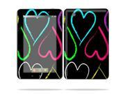 "Mightyskins Protective Skin Decal Cover for Lenovo IdeaPad A1 7"" inch Tablet wrap sticker skins Hearts"