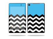 "Mightyskins Protective Skin Decal Cover for Asus Google Nexus 7"" (2013 - 2nd Generation) wrap sticker skins Baby Blue Chevron"