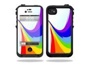 Mightyskins Protective Vinyl Skin Decal Cover for LifeProof iPhone 4 / 4S Case wrap sticker skins Rainbow Flood