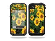 Mightyskins Protective Vinyl Skin Decal Cover for LifeProof iPhone 4 / 4S Case wrap sticker skins Sunflowers