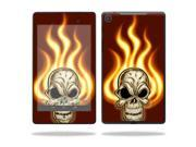 "Mightyskins Protective Skin Decal Cover for Asus Google Nexus 7"" (2013 - 2nd Generation) wrap sticker skins Burning Skull"
