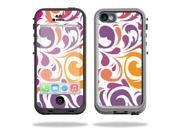 MightySkins Protective Vinyl Skin Decal Cover for LifeProof iPhone 5C Case fre Case Sticker Skins Swirly Girly