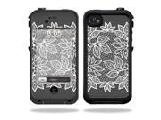 Mightyskins Protective Vinyl Skin Decal Cover for LifeProof iPhone 4 / 4S Case wrap sticker skins Floral Lace