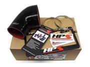 BMW 01-06 E46 M3 HPS Black High Temp Reinforced Silicone Post MAF Air Intake Hose Kit