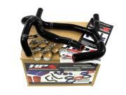 Honda 03-04 CRF450R HPS Black High Temp Reinforced Silicone Radiator Hose Kit Coolant