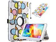"Samsung Galaxy Tab 4 7.0 Case, ULAK Cover for Samsung Galaxy Tab 4 7.0"" T230 /T231/ T235 Galaxy Tab 4 Nook Fashion 360 Rotating  Stand Cover with Stylus (Pretty Flower)"