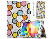 "ULAK Tab 4 7.0 Case,PU Leather Case Cover For Samsung Galaxy Tab 4 7.0"" T230 /T231/ T235 Galaxy Tab 4 Nook Stand Cover with Stylus (Flower)"