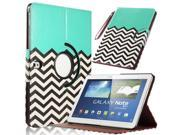 ULAK Samsung Galaxy Tab Note 10.1 2014 Edition Case, Slim Shell 10.1 Inch Cover Stand With Card Slots With Auto Wake / Sleep Smart Cover (Blue/Black Wave)