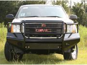 Fab Fours GM08-S2160-1 Black Steel&#59; Front Ranch Bumper&#59; 2 Stage Black Powder Coated&#59; w/Full Grill