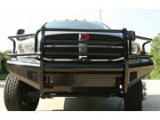 Fab Fours DR06-S1160-1 Black Steel&#59; Front Ranch Bumper&#59; 2 Stage Black Powder Coated&#59; w/Full Grill