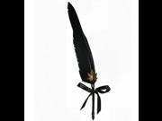 Antique Fountain Nib Pen Superior Quality Feather Durable Calligraphy Writting Pen Dip Ink (Black)