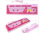 KT Cat cartoon pink Hello Kitty Keyboard USB keyboard interface slim design