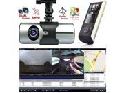 Indigi® HD Dash-Cam Dual Camera Front+InCab Driving Recorder Car DVR GPS Logger G-Sensor