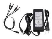 GW 12V 3Amp Power Adapter + 4 Way Power Splitter, Power Up To 4x CCTV Surveillance Security Camera Power Supply