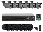 GW (Build Your Own) 8 Channel Security System Realtime Motion Detective DVR Kit, 6x 1000 TVL Water Proof Security Camera 147 Feet IR Distance HDMI Video Output PC & Smartphone Compatible (4TB HDD)