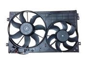 New OEM Replacement Radiator & Condenser Fan for Volkswagen Rabbit 2006 2007 2008 2009 L5 2.5L Engine