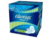 Always Maxi Long Super Pads with Wings 90 ct.