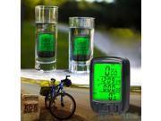 Wire LCD Bicycle Computer Odometer Waterproof Backlight Bike Cycle Speedometer