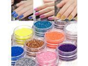 18 Colors Nail Art Decoration Metal Powder Glitter Dust Set For UV Gel Acrylic