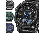 OHSEN Waterproof Digital LCD Alarm Date Mens Military Sport Rubber Watch