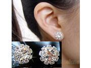 FASHION spherical Crystal Flower Studs Earrings