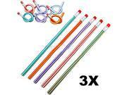 3pcs Colorful Magic Flexible Bendy Soft Pencil for Kids