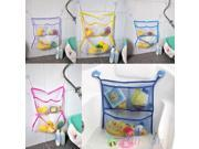Home Bathroom Suction Net Bag Bath Baby Kid Storage Organizer Tidy Toy