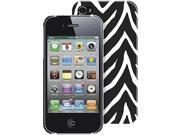 iPhone 4/4s PC case - Black Zebra