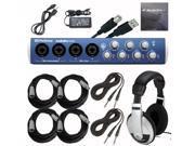 PreSonus AudioBox 44VSL USB Recording Interface with Headphones and Cables