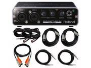 Roland UA-22 Duo Capture EX USB Audio Interface with Cables Bundle