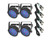 Chauvet SlimPAR 38 LED Par Light with 25ft. DMX Cable Bundle 4-PACK
